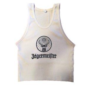 Vtg Jagermeister Deer Logo Crop Top